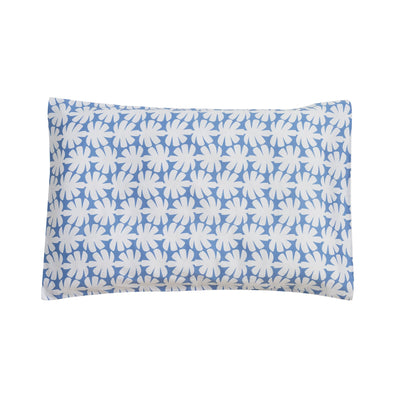 Kikau's Ocean Blue Coco Palm kids pillowcase on white background
