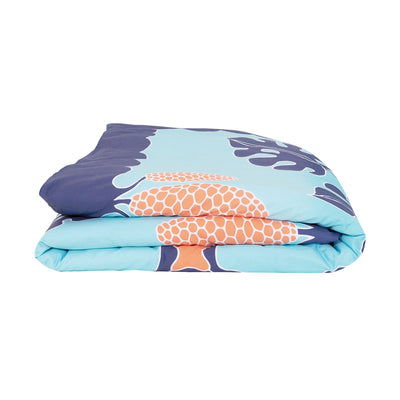 Kikau's Pacific Ocean Blue kids quilt cover set on white background