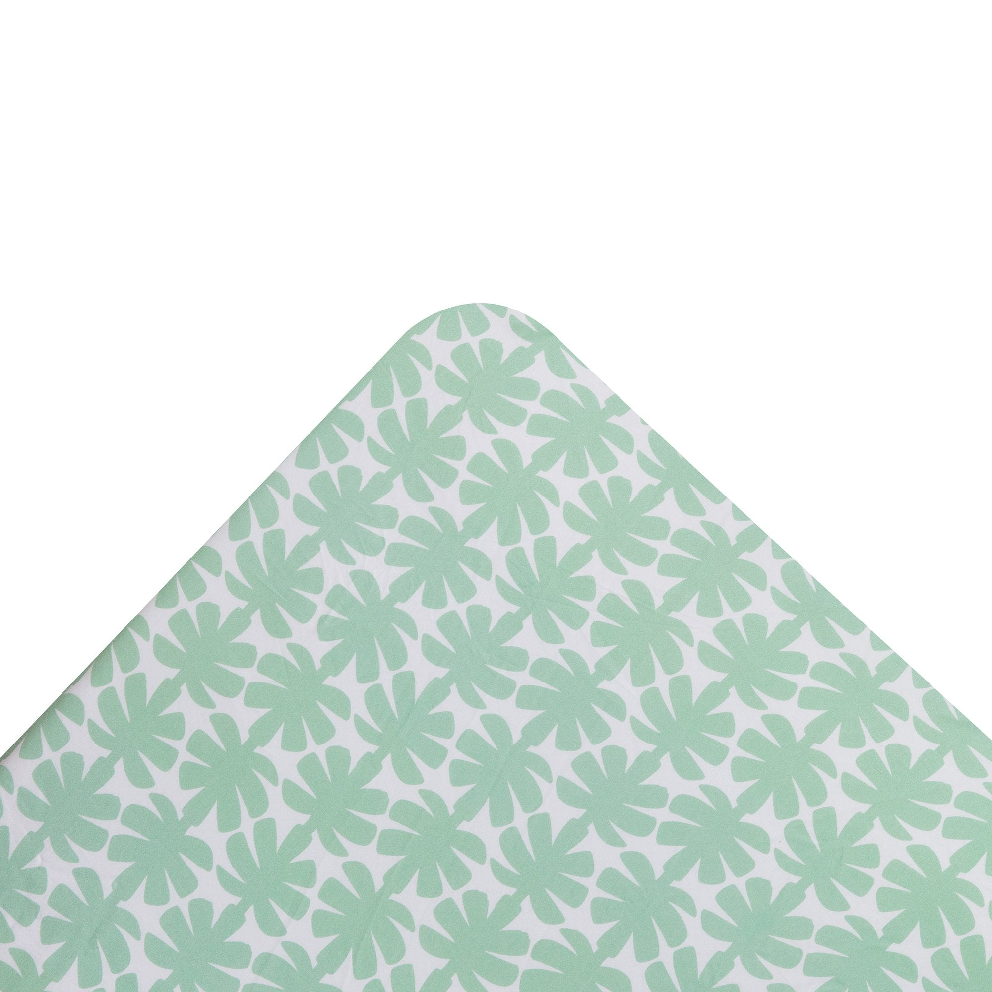 Kikau's Palm Green Coco Palm kids fitted sheet on white background