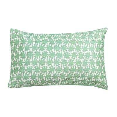 Kikau's Palm Green Coconut Palm kids pillowcase on white background