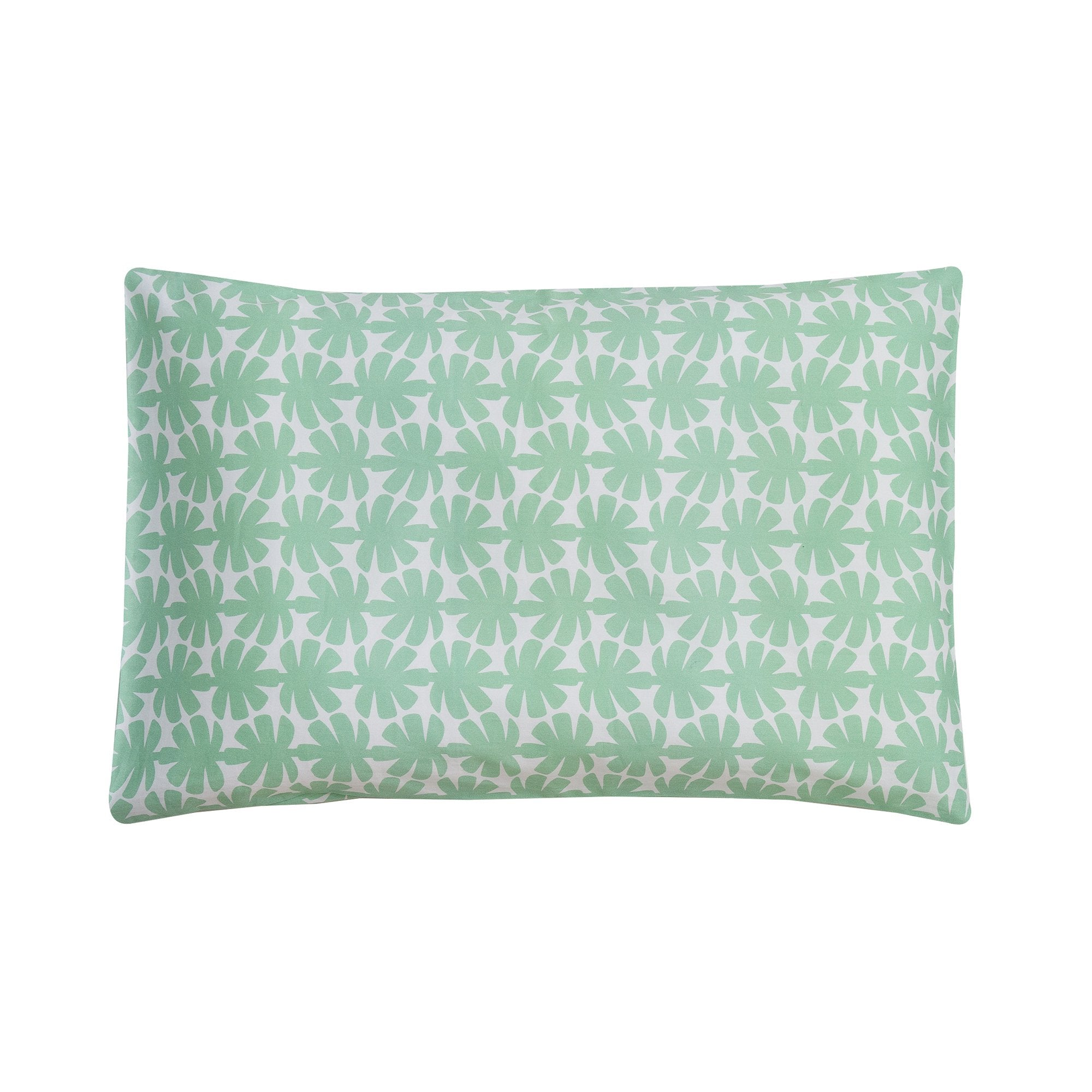 Kikau's Palm Green Coco Palm kids pillowcase on white background