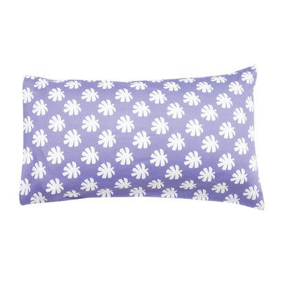 Kikau's Wild Bird-of-Paradise Lilac kids pillowcase on white background