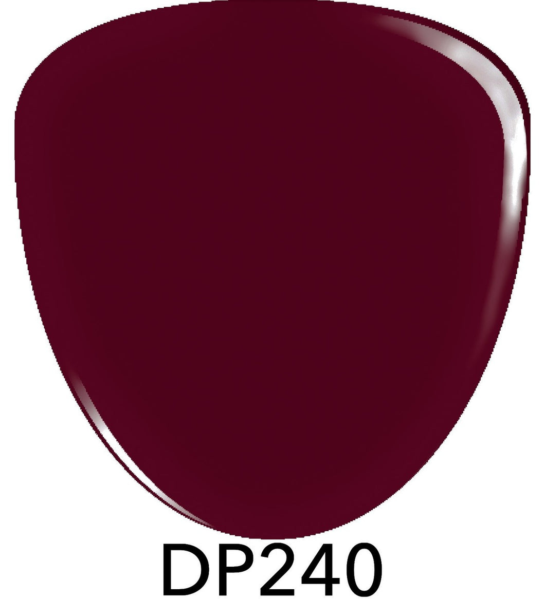 Smalto Bordeaux scuro in Polvere