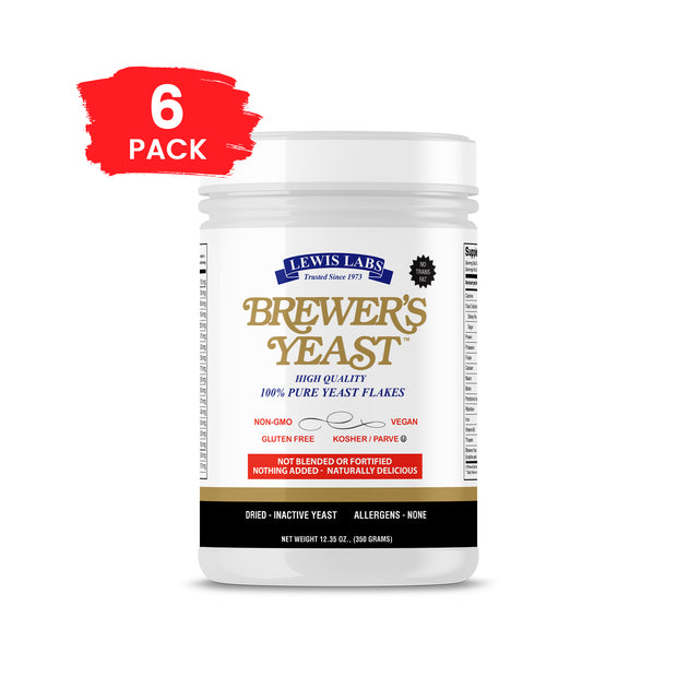SPECIAL - 6 BOTTLES<br />Lewis Labs<br /> Brewer's Yeast™ Flakes</br>