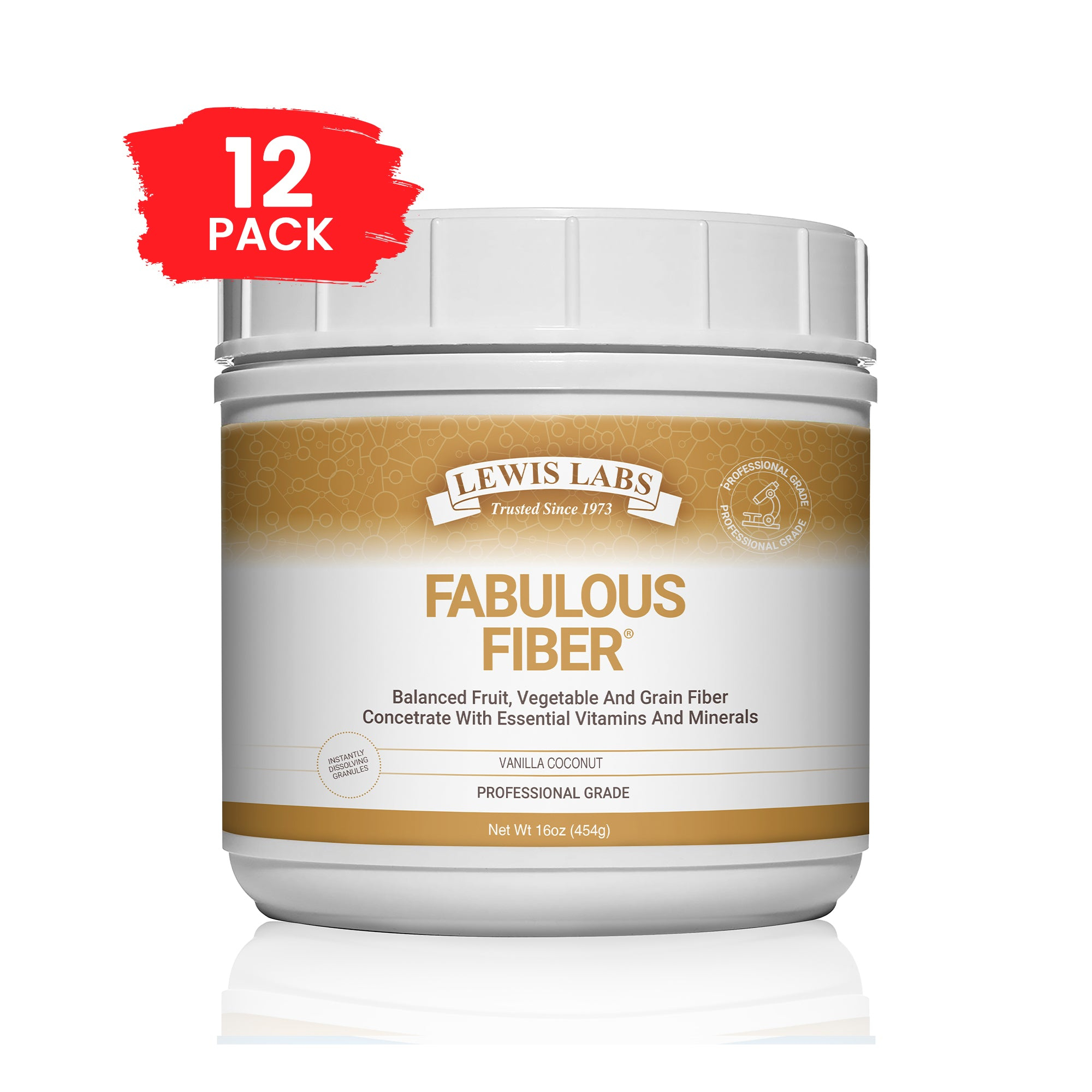 SPECIAL! 12 BOTTLES<br />Lewis Labs<br />Fabulous Fiber<sup>®</sup>   On Back-Order Will Ship By December 25