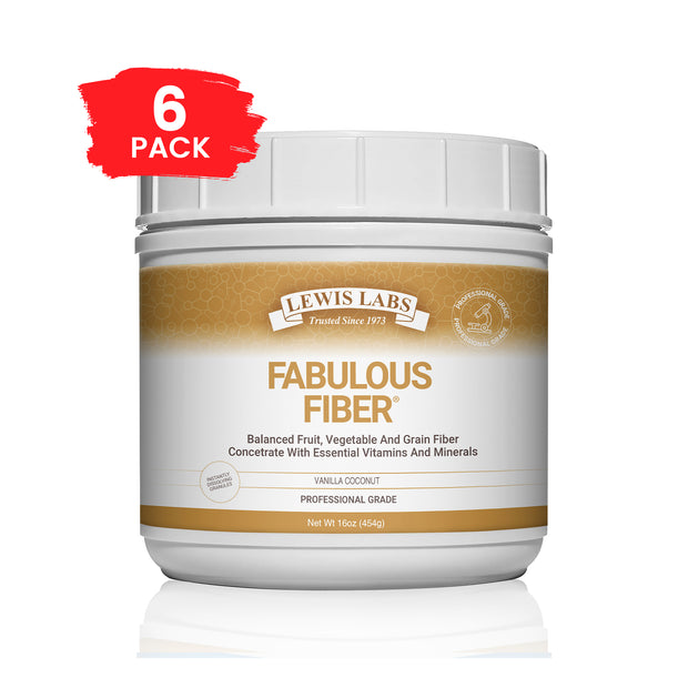 SPECIAL! 6 BOTTLES<br />Lewis Labs<br />Fabulous Fiber<sup>®</sup>  On Back-Order Will Ship By December 25
