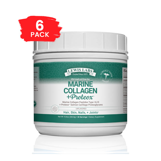 SPECIAL! 6 BOTTLES Marine Collagen + Proteox 10 Oz