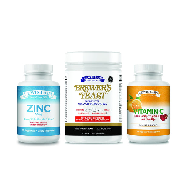 The Immunity Bundle!  Zinc & Brewers Yeast & Vitamin C