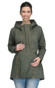 LARA - MATERNITY JACKET WITH MILITARY STYLE