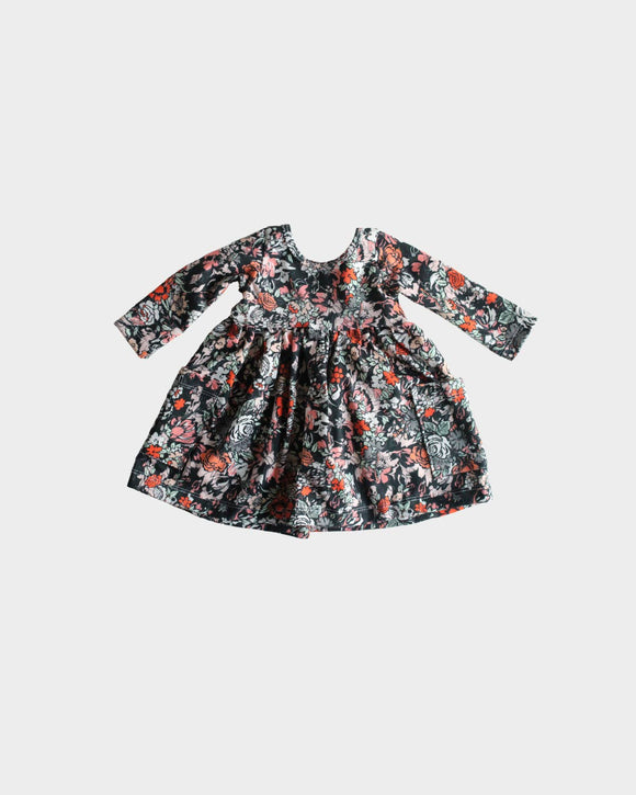Preorder Ballet Dress in Black Floral