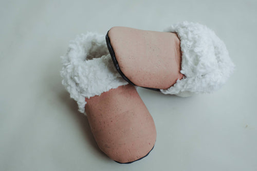 Eco Friendly Faux Fur Cork booties slippers
