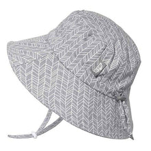Load image into Gallery viewer, Grey Herringbone | Cotton Bucket Hat