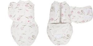 EMBE 2-WAY LEGS IN/LEGS OUT SWADDLE - CLUSTER FLOWERS