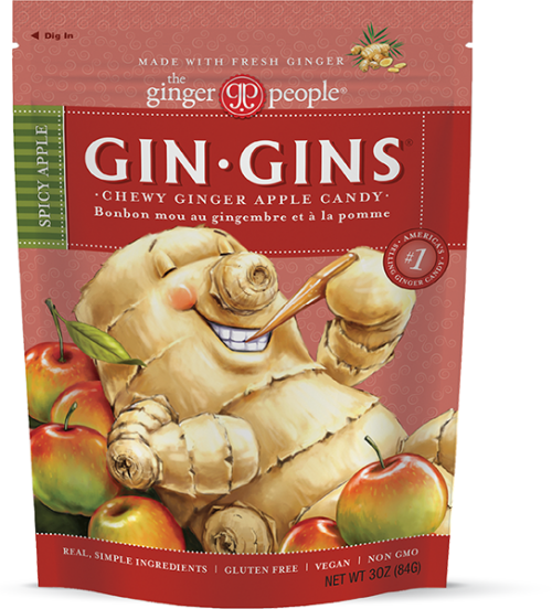 Gin Gins® Spicy Apple Ginger Chews