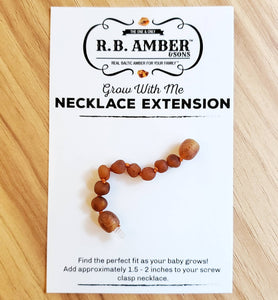 Baltic Amber Jewelry Extender RAW COGNAC