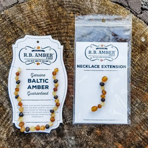 "Kids | ""Grow With Me"" Baltic Amber Necklace Sets - DARK COGNAC"