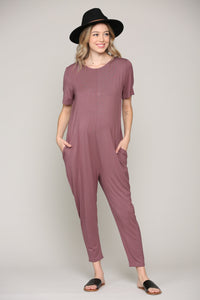 JUMPSUIT ROMPER WITH POCKETS