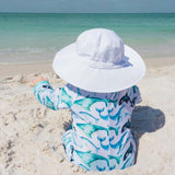 White | Aqua Dry Bucket Hat