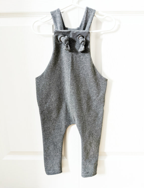 Knotted Romper Coveralls - Iron 2tone Charcoal