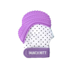 Load image into Gallery viewer, MUNCH MITT - PURPLE - POLKA DOTS