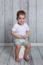 Load image into Gallery viewer, Frayed Boy Shorts - Sage Watercolor