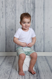 Frayed Boy Shorts - Sage Watercolor