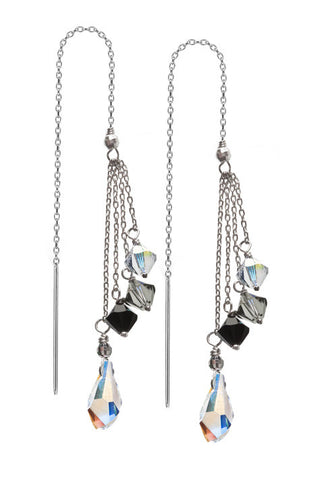 Debra Shepard Swarovski Sterling Silver Earrings