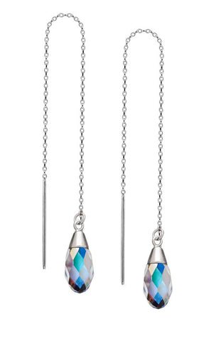 Sterling Silver Threader Earrings - Crystal AB Swarovski Crystals