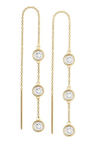 Debra Shepard Gold Diamond Drop Earrings