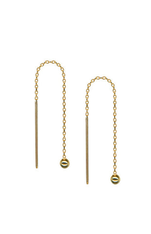 Debra Shepard Gold Chain Earrings 3