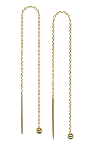 Debra Shepard Gold Chain Long Earrings