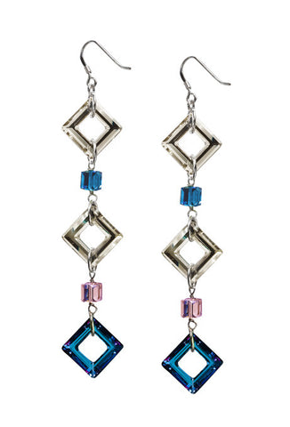 Bermuda Blue Swarovski Crystal Earrings