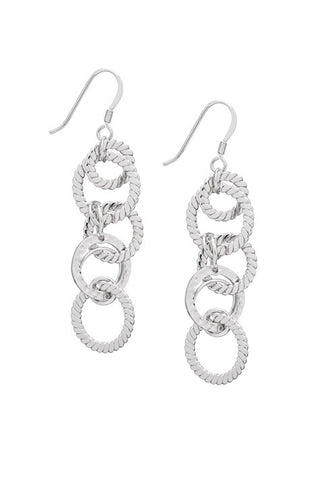Hammered Silver Chandelier Earrings