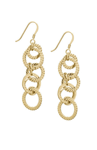 Debra Shepard Hammered Gold Chandelier Earrings