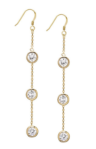 Debra Shepard Gold Diamond Drop Chandelier Earrings
