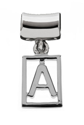 Monogram Silver Charms Letter A