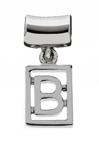 Monogram Silver Charms Letter B