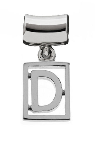 Monogram Silver Charms Letter D