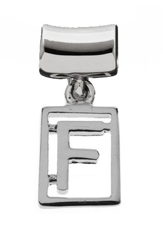 Monogram Silver Charms Letter F