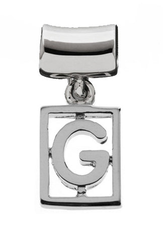 Monogram Silver Charms Letter G