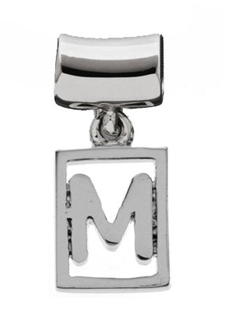 Monogram Silver Charms Letter M