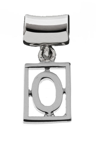 Monogram Silver Charms Letter O