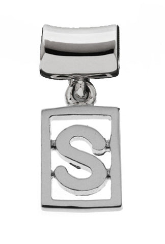 Monogram Silver Charms Letter S