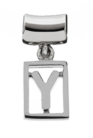 Monogram Silver Charms Letter Y