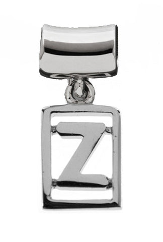 Monogram Silver Charms Letter Z