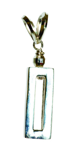 Rectangle Silver Charm