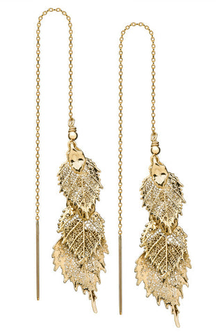 Debra Shepard Gold Leaves Earrings