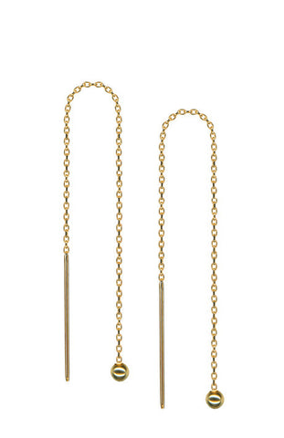 Debra Shepard Gold Chain Earrings 5