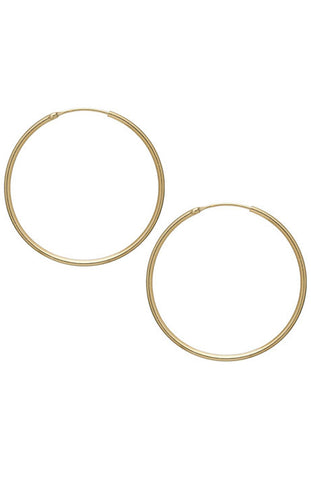 Debra Shepard Gold Hoop Earrings - 1