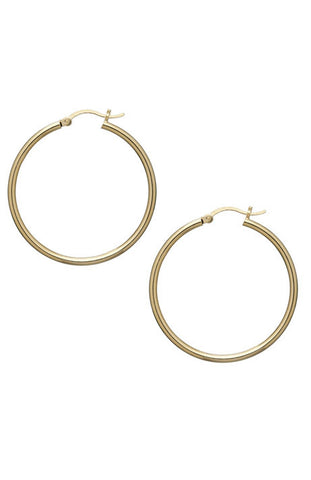 Debra Shepard Gold Hoop Earrings - 1.5